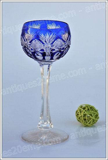 Verre à vin du Rhin en cristal de St Louis modèle service Niepce, St.Louis crystal Roemer glass wine hock
