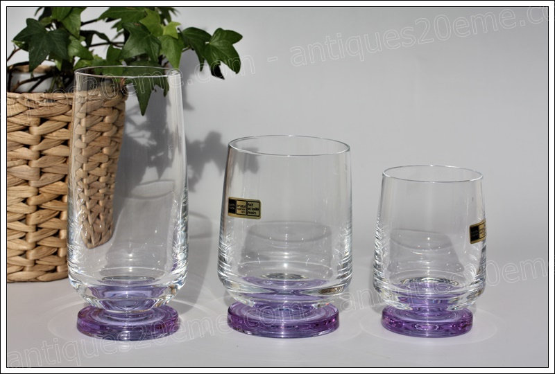 Service en cristal Barthmann verres eau vin chopes, Barthmann crystal service