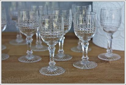 Service verres cristal Baccarat Dombasle