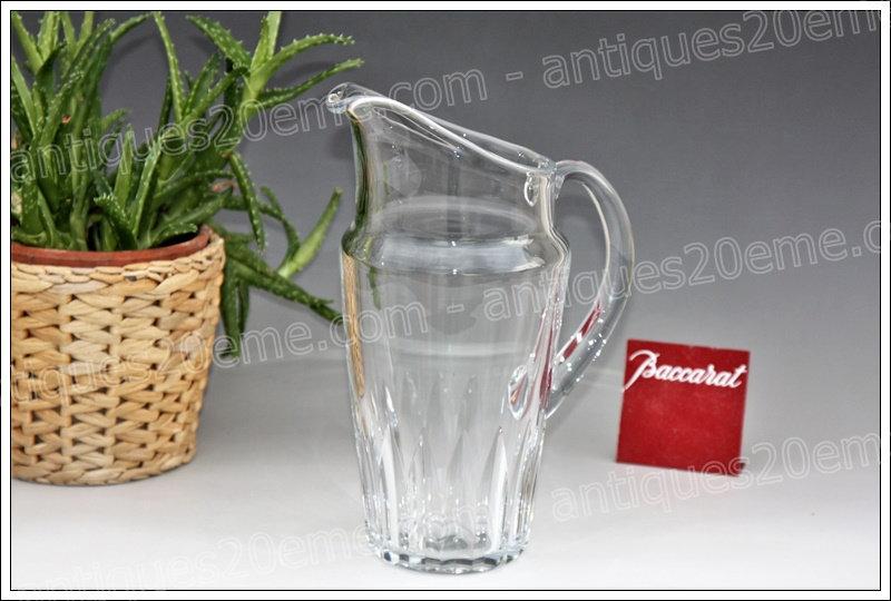 Pichet à eau en cristal de Baccarat modèle service Côte d'Azur, Baccarat crystal water pitcher
