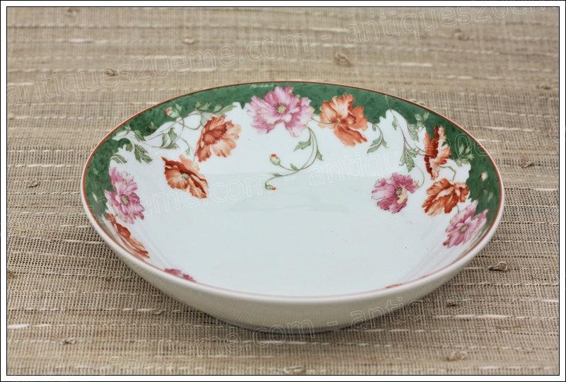 Assiettes en porcelaine de Limoges Bernardaud Sologne, Limoges Bernardaud porcelain plates