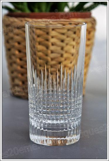 Verres chopes à orangeade en cristal Baccarat modèle Nancy, Baccarat crystal highball glasses