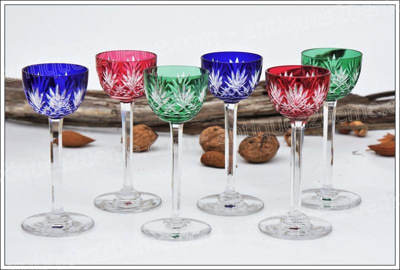 Verres liqueur cristal St Louis Massenet
