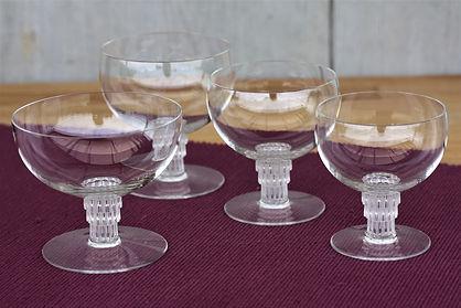 Service verres cristal Lalique Bambou