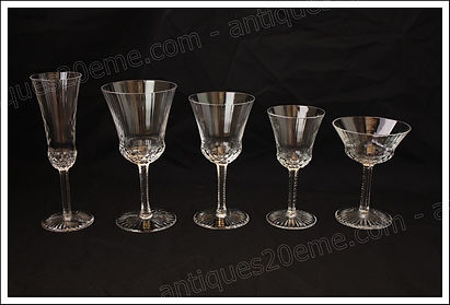 Verres service cristal St Louis Apollo
