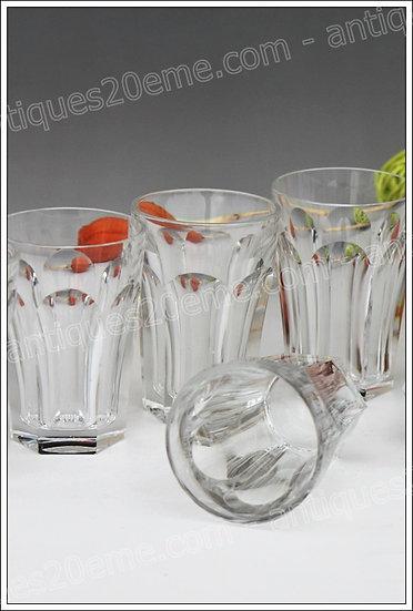 Verres chopes à whisky en cristal du service Baccarat Harcourt, Baccarat crystal goblet whiskey glasses