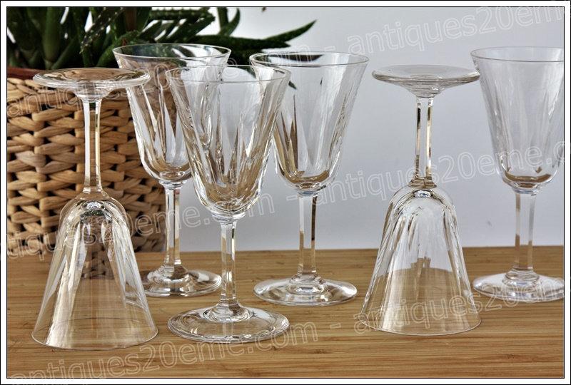 Verres à vin en cristal du service St Louis Cerdagne, St Louis crystal wine glasses