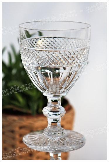 Verre à eau en cristal de St Louis modèle service Trianon, St.Louis Trianon crystal water glass