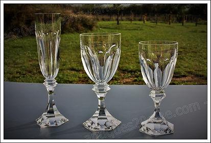 Verres service cristal St Louis Chambord
