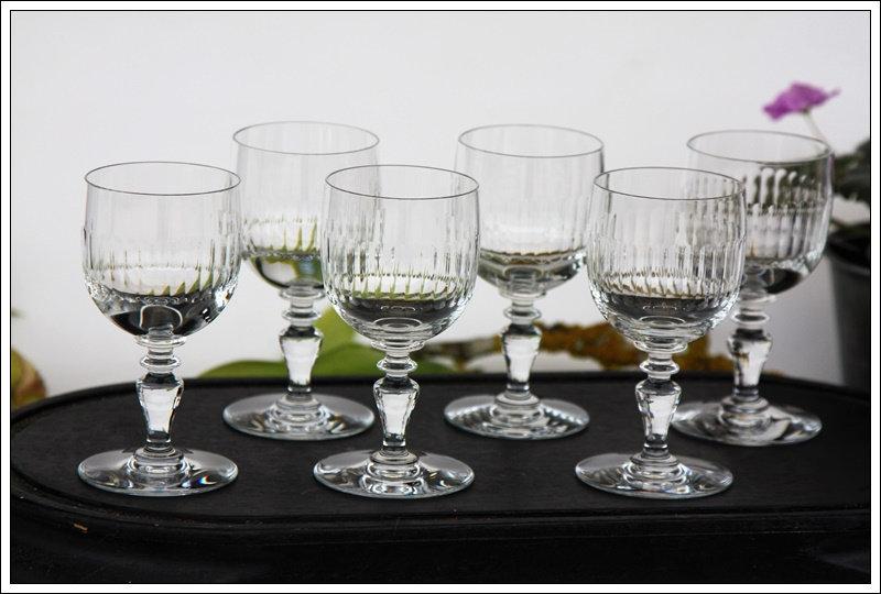 Verres à vin en cristal du service Baccarat Renaissance, baccarat crystal wine glasses