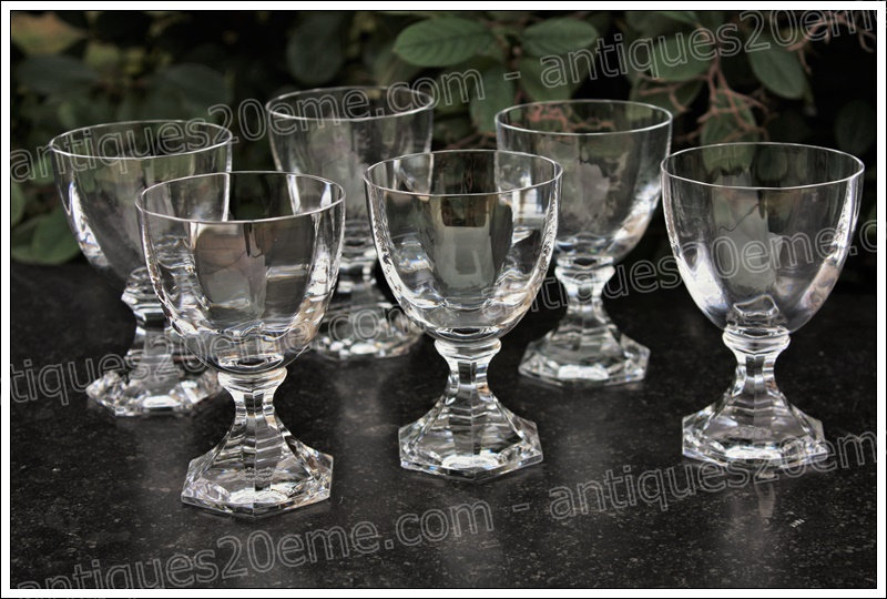 Verres à eau en cristal de Saint Louis modèle service Saint-Cloud, St.Louis crystal water glasses