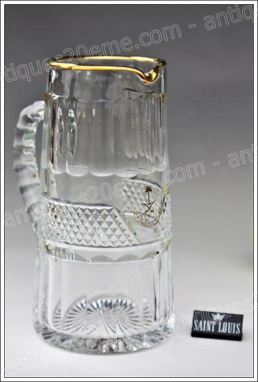 Pichet canette en cristal du service St Louis Trianon, St Louis crystal carafe ewer pitcher