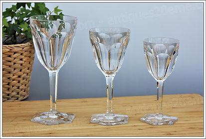 Service verres cristal Baccara Compiègne