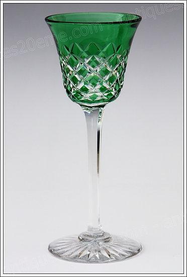 Verre à vin du Rhin Roemer en cristal de Baccarat modèle Burgos, Baccarat crystal Roemer glass wine hock