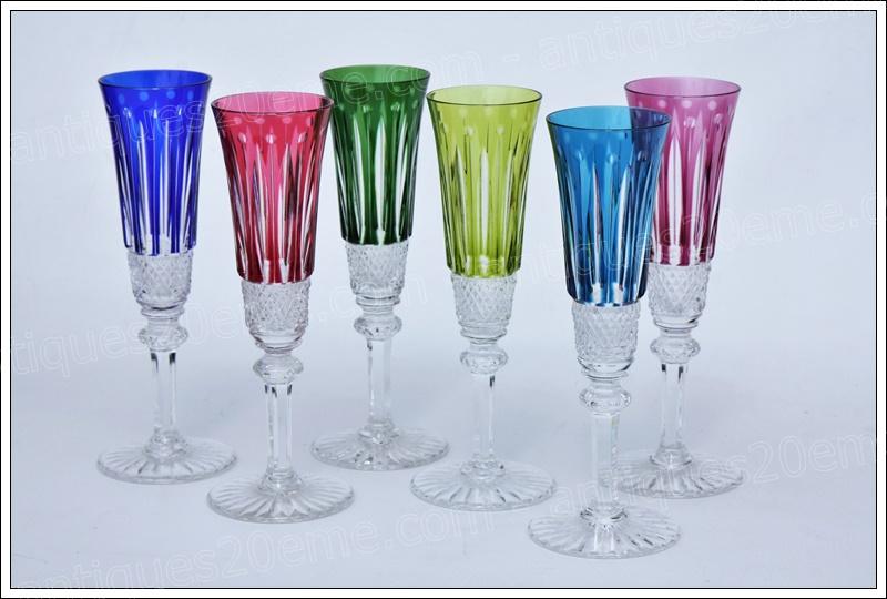 Verres flûtes cristal St Louis Tommy