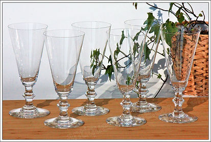 Verres cristal service Baccarat Sully