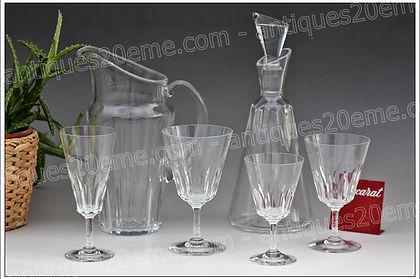 Service verres carafe pichet cristal Baccarat Côte d'Azur