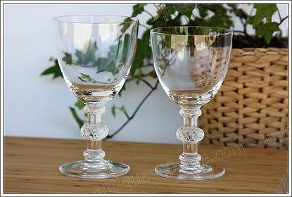 Verres cristal service Lalique St Hubert