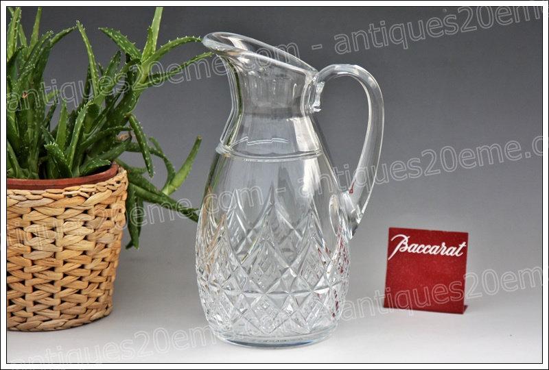 Broc pichet en cristal de Baccarat modèle service Colbert, Baccarat crystal pitcher
