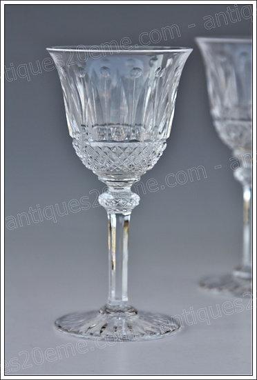Verres à porto en cristal de St Louis modèle service Tommy, St.Louis crystal Port wine glasses