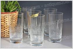 Chopes verres cristal Baccarat Nancy