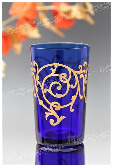 Gobelet verres cristal de St Louis modèle Baalbeck, St.Louis crystal tumbler goblet  glass