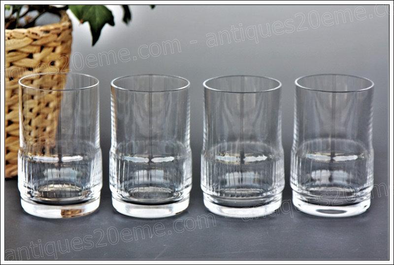 Verres à whisky en cristal de St Louis modèle service Espace, St Louis crystal whiskey glasses