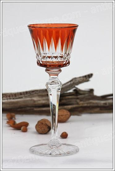 Verre à vin du Rhin en cristal du service modèle Buckingham, Baccarat crystal Roemer glass