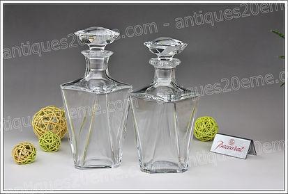 Carafes cristal Baccarat modèle Cordon Bleu Cognac