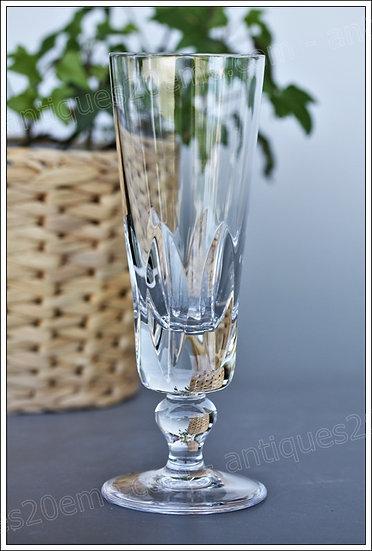 Flûte à champagne coupe verre du service cristal Saint Louis Jersey, St Louis crystal