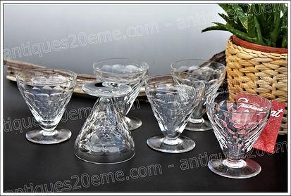 Verres en cristal service Baccarat Brindisi