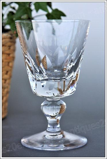 Verre à vin en cristal de St Louis modèle Jersey, St.Louis crystal wine glass