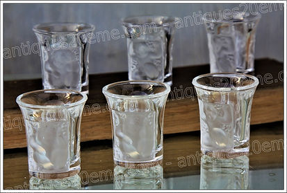Verres gobelets en cristal Lalique modèle service Enfants