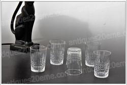 Baccarat Nancy crystal glasses