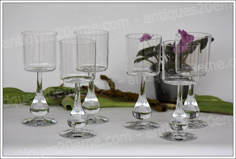 Verres à eau en cristal du service Baccarat José, Baccarat crystal water glasses