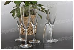 Verres flûtes cristal St Louis Grand-Lieu