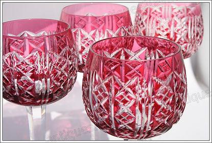 Verres service cristal Saint Louis Riesling
