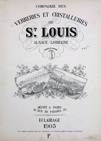 Catalogue Saint Louis 1905 Eclairage - 1905 Lighting St. Louis catalog