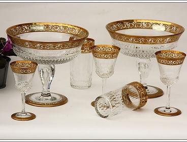 Verres service cristal Saint Louis Thistle