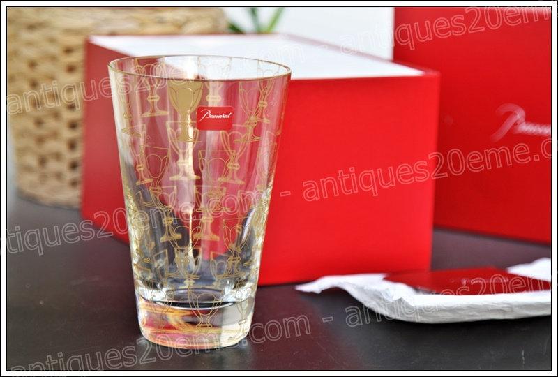 Gobelet chope verre du service en cristal Baccarat Apparat, Baccarat crystal highball glass design Studio 5.5