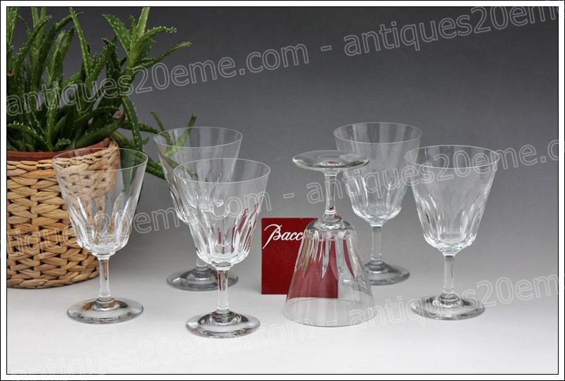 Verres à vin en cristal de Baccarat modèle service Côte d'Azur, Baccarat crystal wine glasses