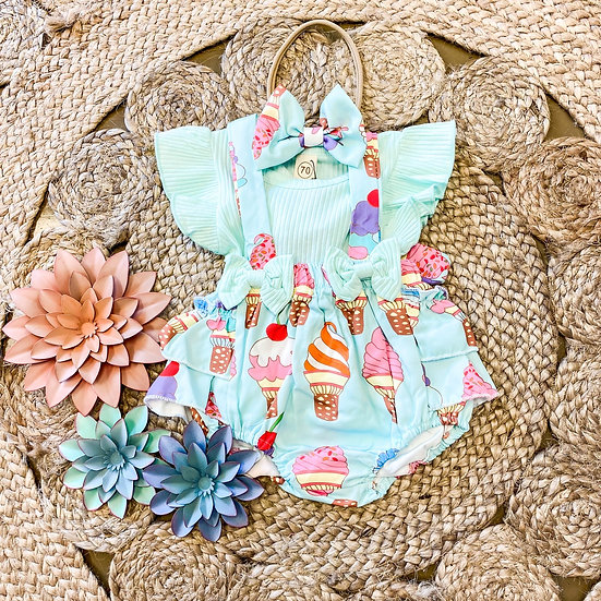Ice cream ruffled outfit