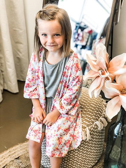 Girls Floral Kimono