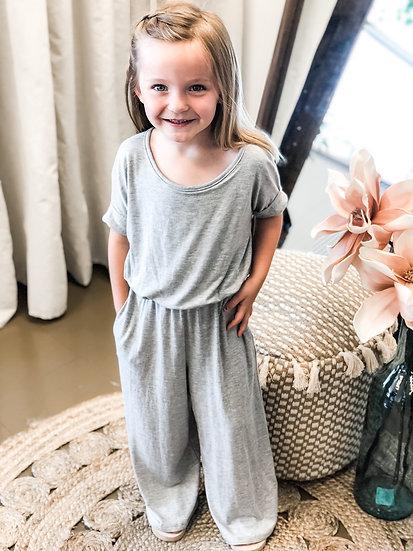 Girls Grey Jumpsuit