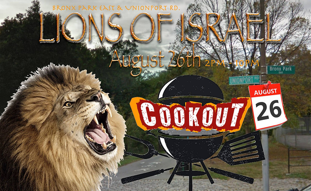 LIONS OF ISRAEL COOKOUT!