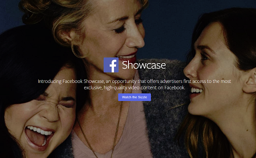 Facebook Announces 'Facebook Showcase' Premium Video Advertising Option