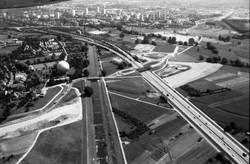 Kreuzungsbauwerk Zubringer Mitte / Paduaallee, Gaskugel | 4.08.1984