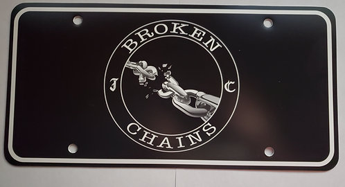 Broken Chains Front License Plate - Plastic
