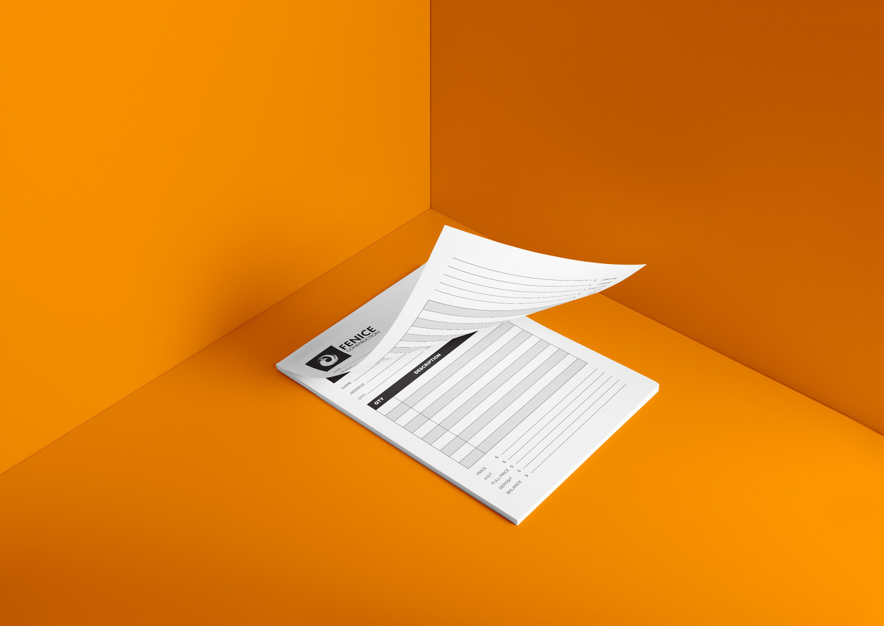 Medium or Large Invoice Booklet