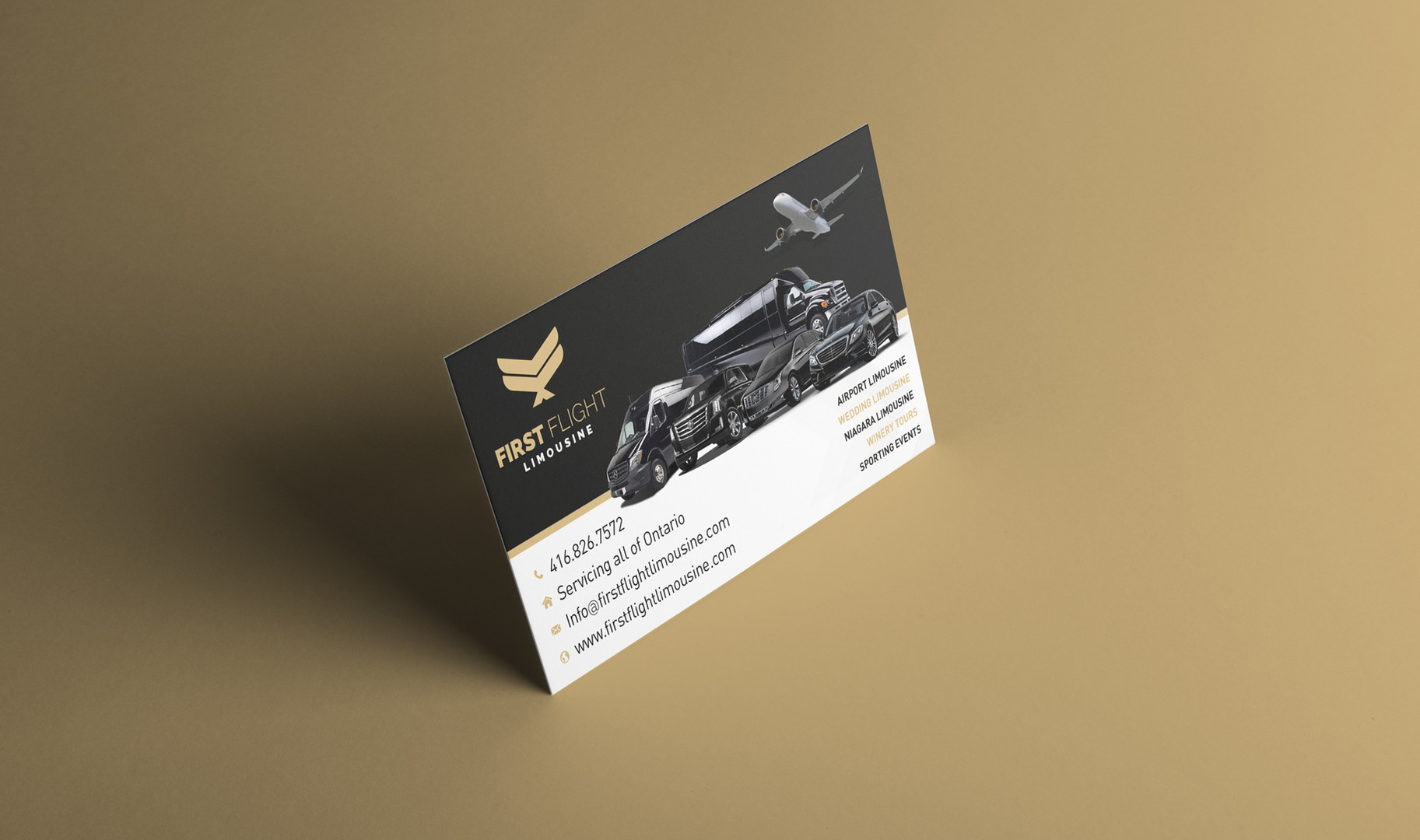 Business Card for First Flight Limousine